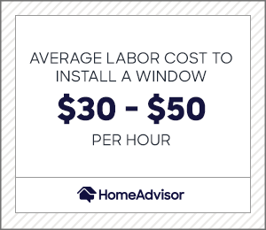 the average labor cost to install windows is between $30 and $50 per hour