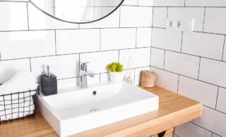modern white bathroom sink