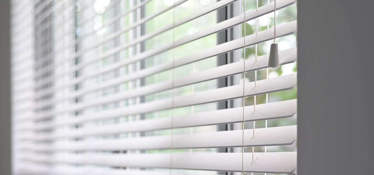 Venetian blinds on a home window