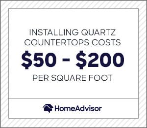 installing quartz countertops costs $50 to $200 per square foot.