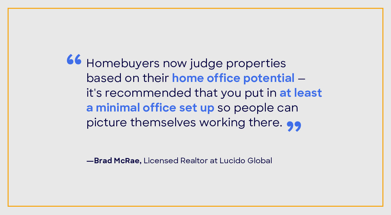 Brad McRae home staging quote