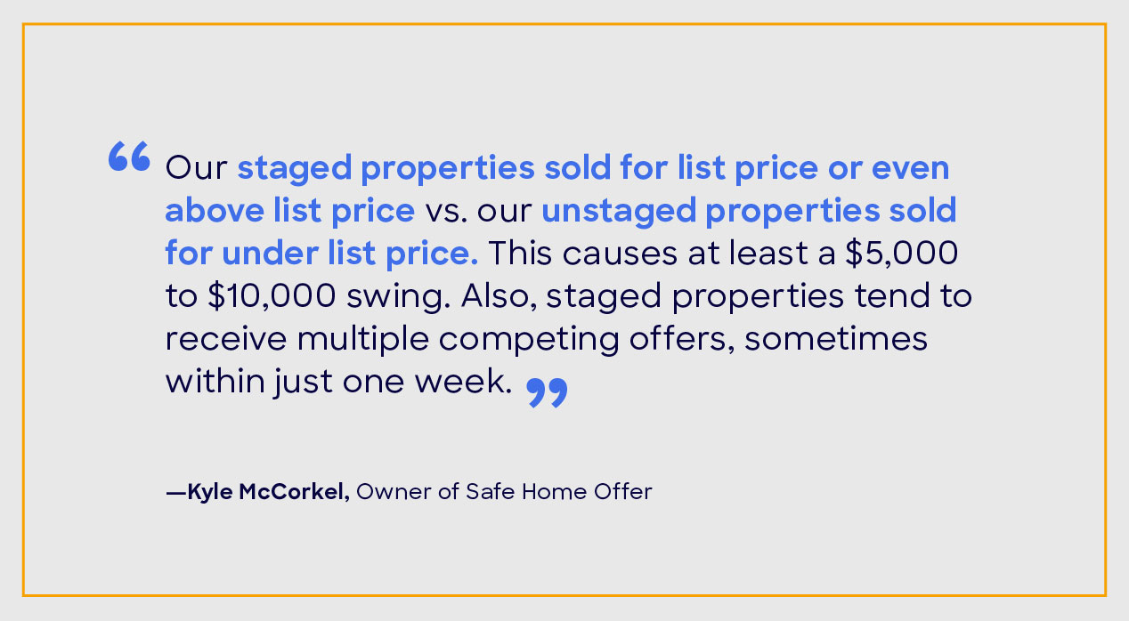 Kyle McCorkel home staging quote