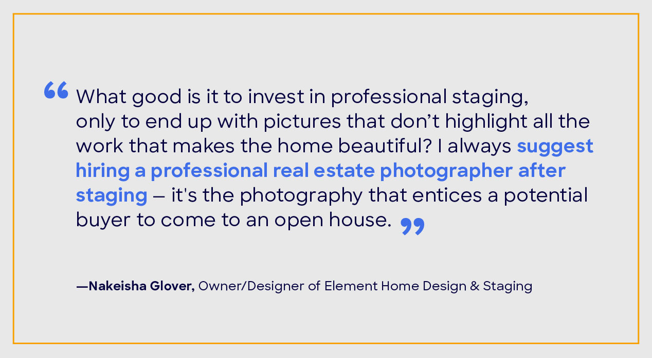 Nakeisha Glover home staging quote