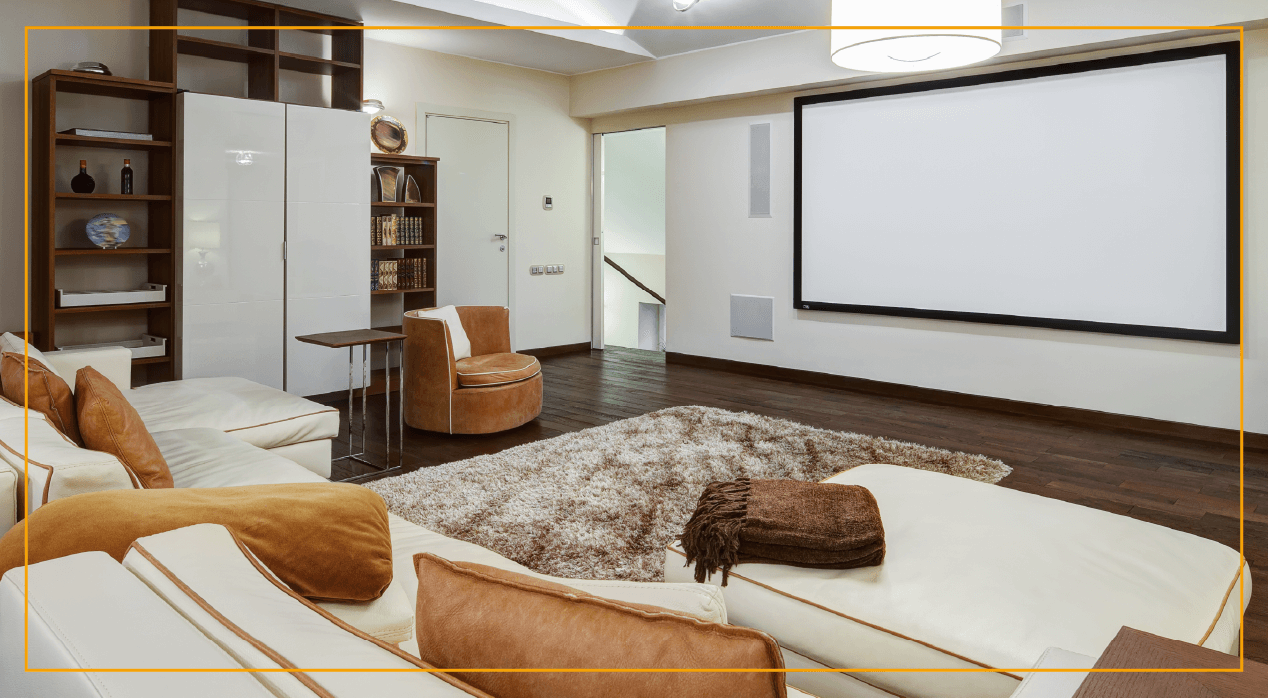 American Western-themed home theater