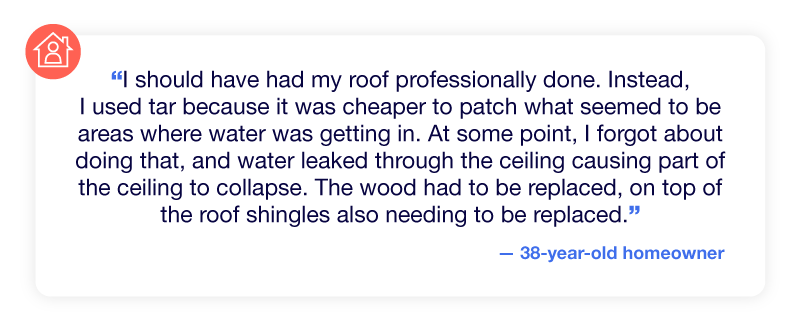 Experience of a collapsed roof due to not having roof maintained professionally.