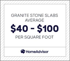 granite slabs for countertops cost $40 to $100 per square foot.