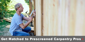 Get matched to prescreened Carpentry pros