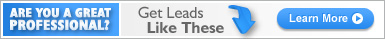 Are you a great professional? Get leads like these.